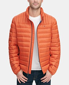 Men's Down Quilted Packable Logo Jacket