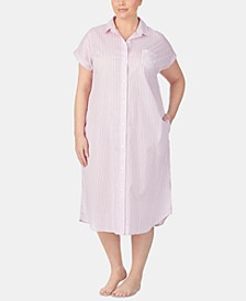 Plus Size Cotton Ballet Sleep Shirt