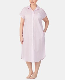 Lauren Ralph Lauren Plus Size Cotton Ballet Sleep Shirt