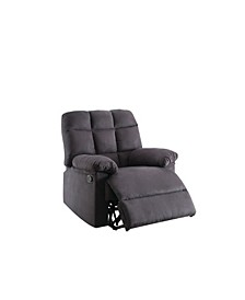Plush Cushioned Recliner with Tufted Back And Roll Arms