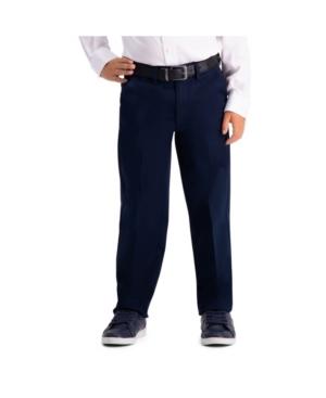 Haggar Husky Boys Premium No Iron Khaki, Reg Fit, Flat Front Pant