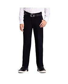 Husky Boys Premium No Iron Khaki, Reg Fit, Flat Front Pant
