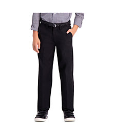 Haggar Husky Boys Cool 18 Pro, Slim Fit, Flat Front Pant