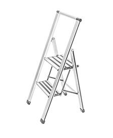 Aluminium Design 2-Step Folding Stepladder
