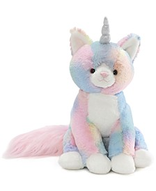 Baby Boys or Girls Rainbow Shimmer Caticorn Plush Toy