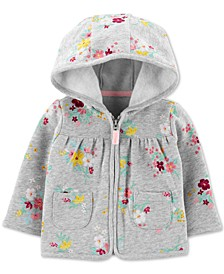 Baby Girls Floral-Print Fleece Hoodie