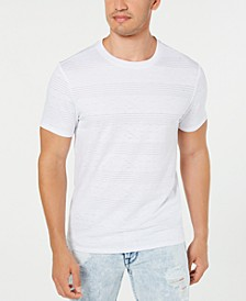 Men's Perforated Striped T-Shirt