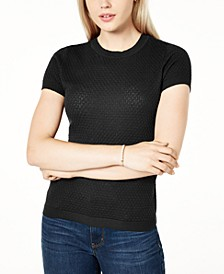 Short-Sleeve Crewneck Sweater, Created for Macy's