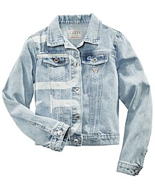 Big Girls Cotton Logo-Print Denim Jacket