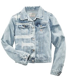 GUESS Big Girls Cotton Logo-Print Denim Jacket