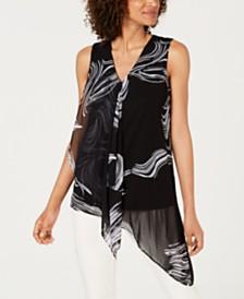 Alfani Sleeveless Draped Top, Created For Macy's
