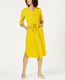 V-Neck Roll-Tab Shirt Dress, Created for Macy's