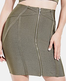 Mirage Zip-Front Bandage Skirt