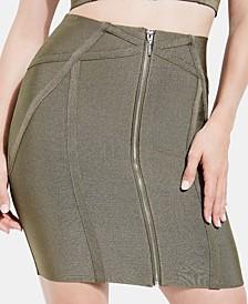 Mirage Zip-Front Bandage Skirt