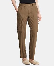 Petite Straight-Leg Cargo Pants