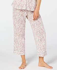 Charter Club, Cropped Printed Pajama Pants, Created for Macy's