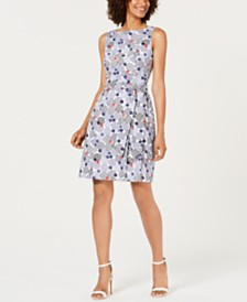 Anne Klein Cotton Printed A-Line Dress