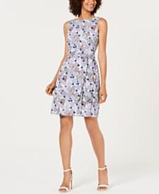 Anne Klein Cotton Printed A-Line Dress