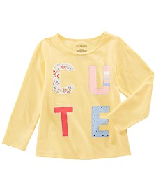 First Impressions Toddler Girls Cotton Long-Sleeve Cute T-Shirt, Created for Macy's