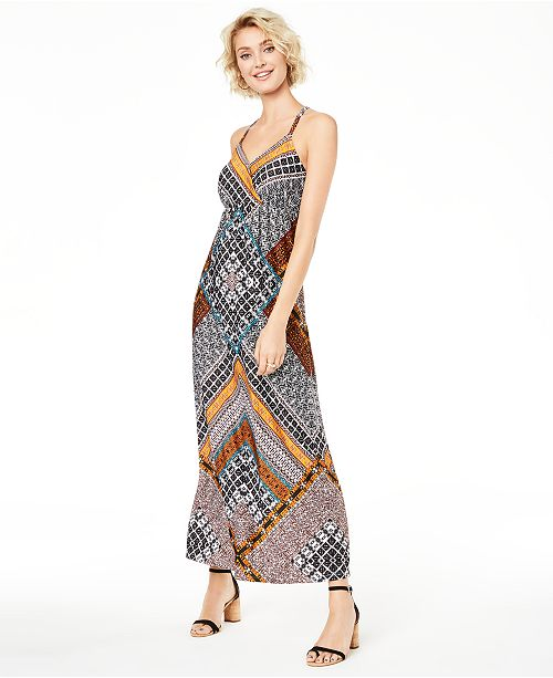 INC International Concepts INC Petite Printed Ring-Back Maxi Dress, Created for Macy's