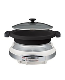 "Zojirushi Gourmet d'Expert Electric Skillet Two Large 12"" Pans"