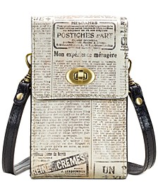 Rivella Printed Leather Phone Crossbody