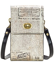Patricia Nash Rivella Printed Leather Phone Crossbody