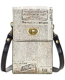 Patricia Nash Rivella Printed Leather Phone Crossbody