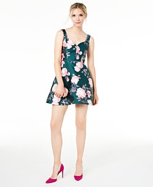 Crystal Juniors' Sweetheart Floral Dress
