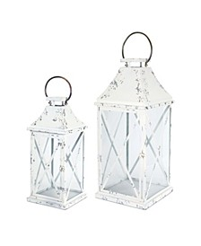 Melrose International Lantern Set of 2 Metal