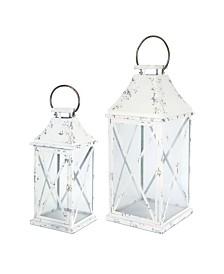 Melrose International Lantern Set of 2 Metal