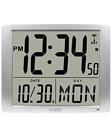 """Atomic Extra-Large Digital Wall Clock with 7"""" Time"""