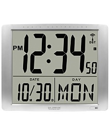 "La Crosse Technology Atomic Extra-Large Digital Wall Clock with 7"" Time"