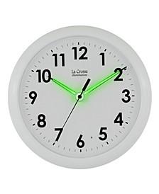 "La Crosse Illuminations 10"" Analog Wall Clock with Glowing Hands"