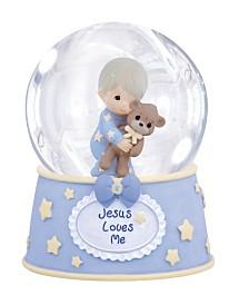 Precious Moments Jesus Loves Me Musical Snow Globe, Boy