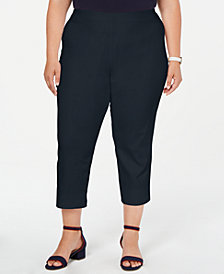 Charter Club Plus Size Pull-On Capri Pants, Created for Macy's