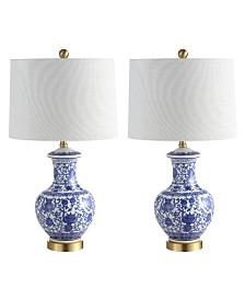 "Jonathan Y Jennifer 25.25"" Ceramic/Metal LED Table Lamp - Set of 2"