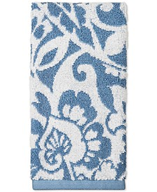 "18"" x 30"" Elite Cotton Scroll Paisley Hand Towel, Created for Macy's"