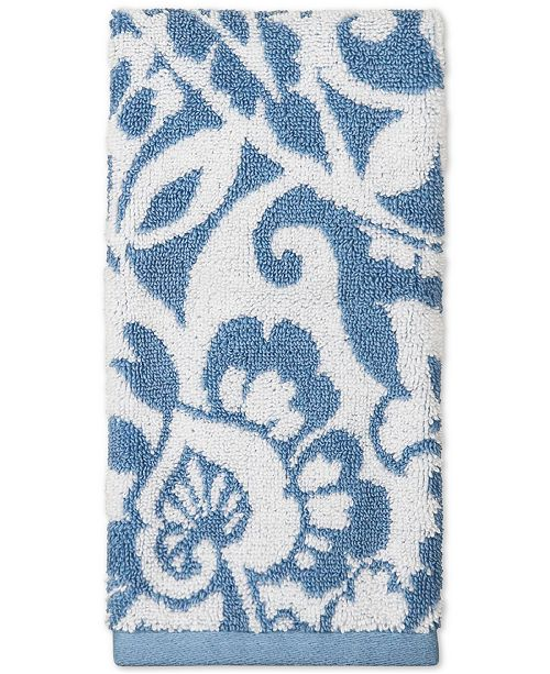 Charter Club Elite Cotton Scroll Paisley Hand Towel, Created for Macy's