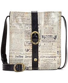 Venezia Newspaper Print Leather Crossbody