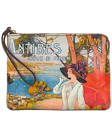 Patricia Nash Cassini Travel Poster Wristlet