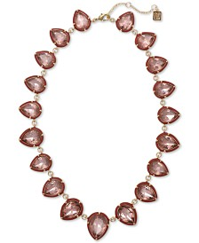 "Laundry by Shelli Segal Gold-Tone Stone Collar Necklace, 16-1/2"" + 2"" extender"
