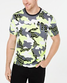 Michael Kors Men's Neon Camo Logo Graphic T-Shirt