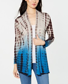 I.N.C. Tie-Dyed Draped Cardigan, Created for Macy's