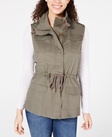 American Rag Juniors' Cargo Vest, Created for Macy's