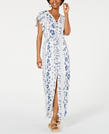 American Rag Juniors' Flutter-Sleeve Maxi Dress, Created for Macy's