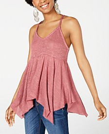 Juniors' Textured Knit Racerback Tank Top, Created for Macy's