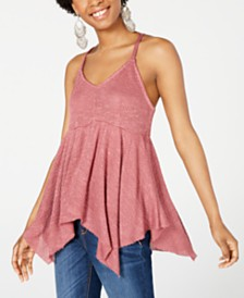 American Rag Juniors' Textured Knit Racerback Tank Top, Created for Macy's