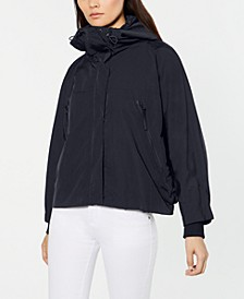 Erbert Mock-Neck Hooded Raincoat