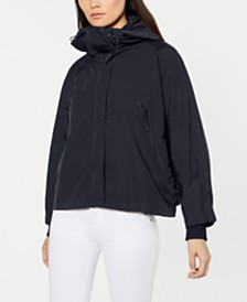 Weekend Max Mara Erbert Mock-Neck Hooded Raincoat